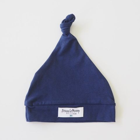 Snuggle Hunny Kids Navy Knotted Beanie