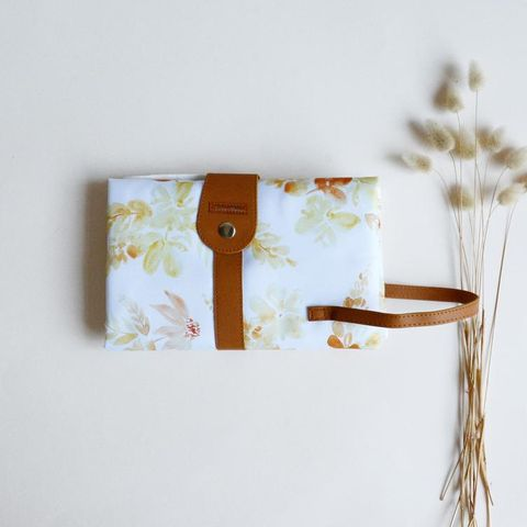The Somewhere Co Mustard Floral Change Mat