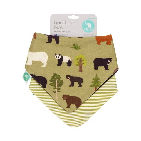 All 4 Ella Bears Reversible Bandana Bib 2 Pack