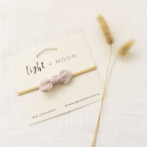 Light & Moon Mini Bow Headband Lilac