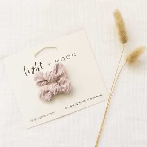 Light & Moon Bow Clip Pack Lilac