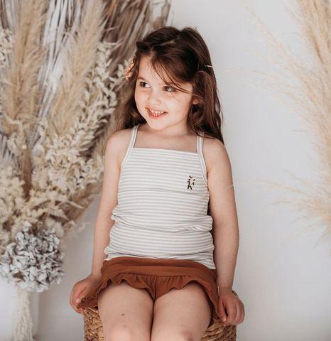 Karibou Paloma Singlet Fawn Stripe