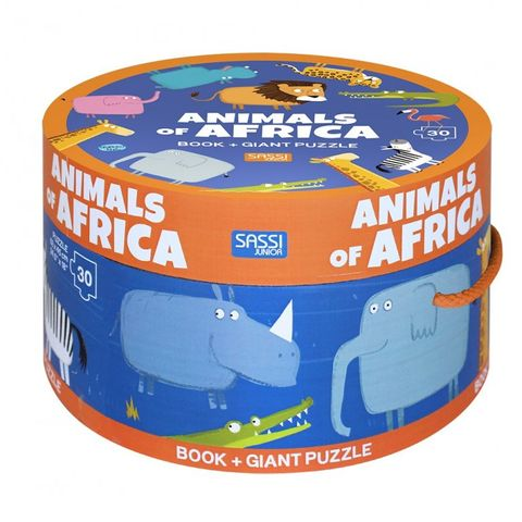 Animals of Africa Book & Giant Puzzle