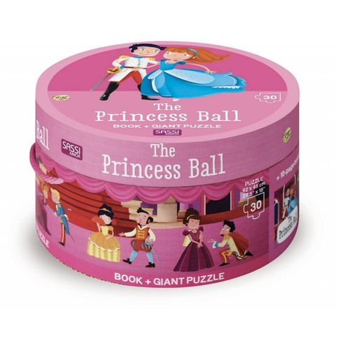 The Princess Ball Book & Giant Puzzle