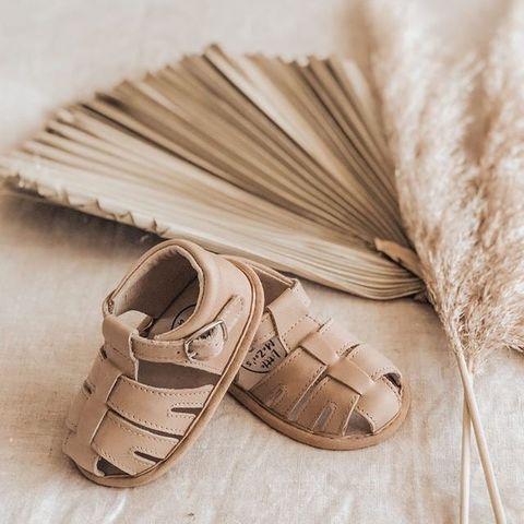 Little Mazoes Zoe Sandal Sand Wax Leather