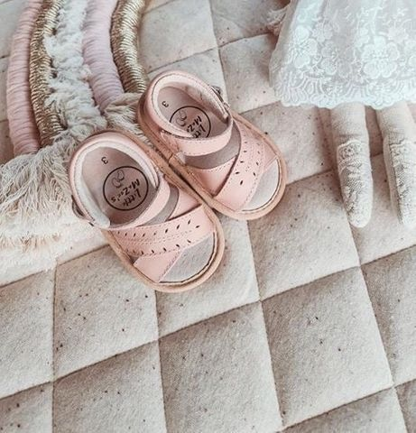 Little Mazoes Madison Sandal Pink Wax Leather