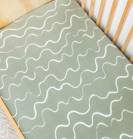 Kiin Baby Fitted Cot Sheet Ocean