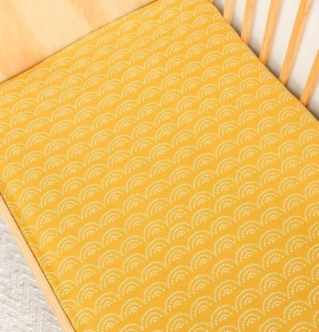 Kiin Baby Fitted Cot Sheet Sunset