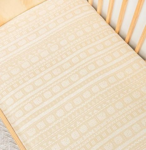 Kiin Baby Fitted Cot Sheet Sand