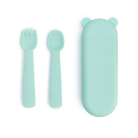 We Might Be Tiny Feedie Fork & Spoon Set Mint
