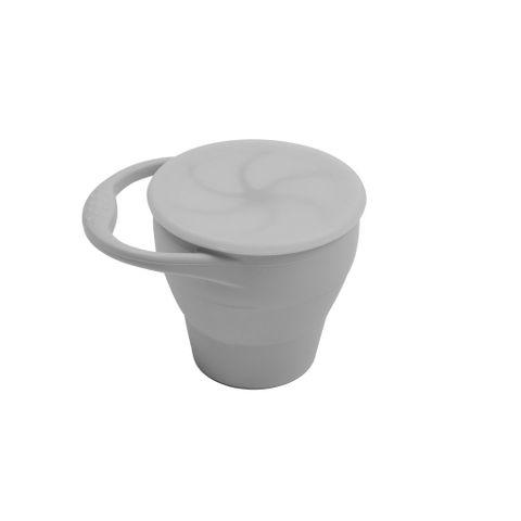 Dove & Dovelet Silicone Snack Cup Silver Grey