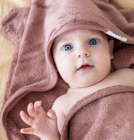 Kiin Baby Hooded Towel Heather