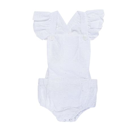 Little Miss Keisha La Lola White Embroided