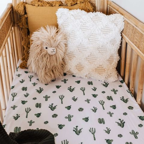 Snuggle Hunny Kids Cactus Fitted Cot Sheet