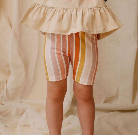 Kapow Beach Stripe Bike Shorts