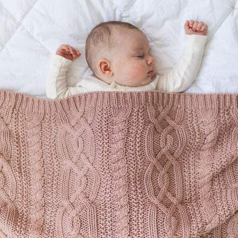 di Lusso Reilly Knit Blanket Nude