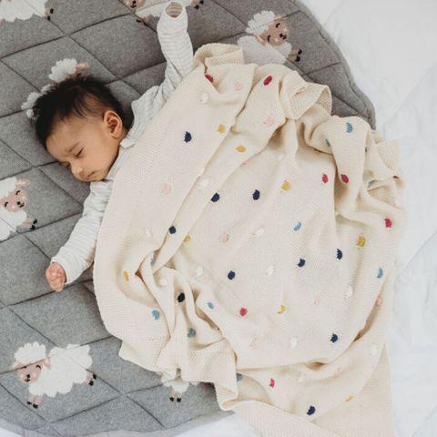 di Lusso Confetti Blanket Natural