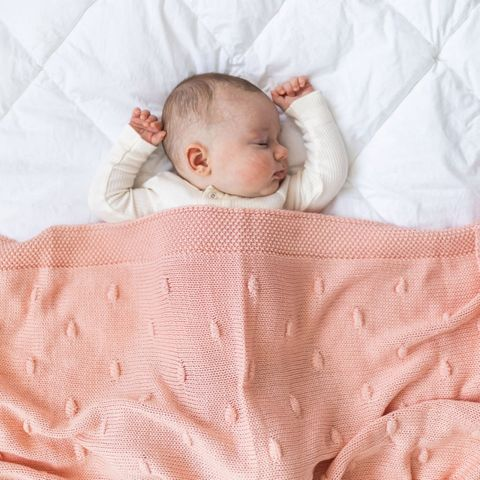 di Lusso Marshmallow Pink Blanket