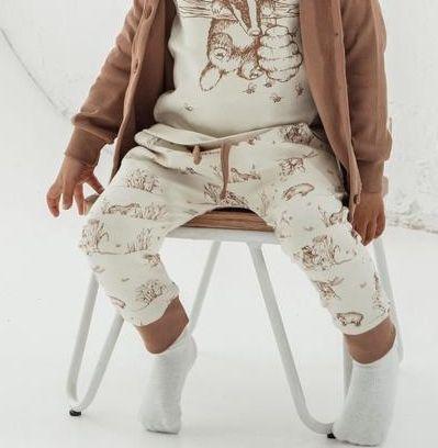 Aster & Oak Cocoa Badger Harem Pants