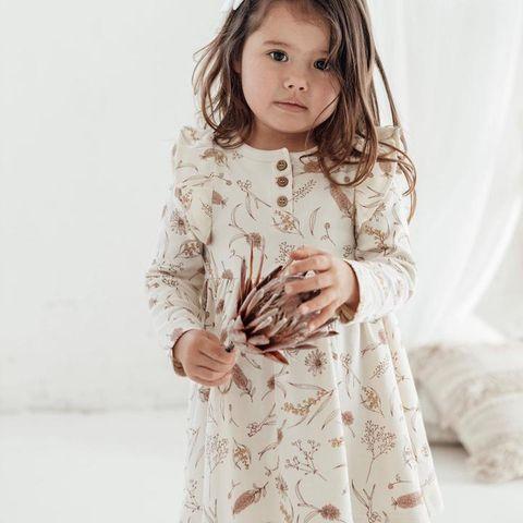Aster & Oak Skater Dress Native Flora