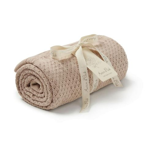Aster & Oak Knit Heirloom Blanket Sand