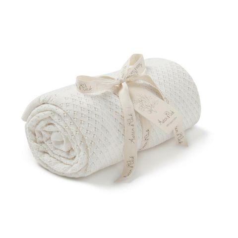 Aster & Oak Knit Heirloom Blanket Cream