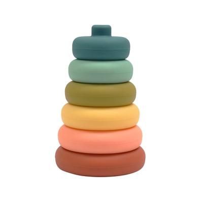 OB Designs Silicone Stacker Toy Blueberry