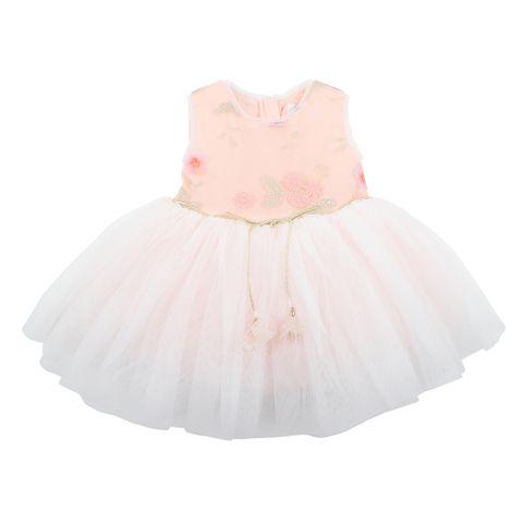Bebe Embroidered Tutu Dress Peach