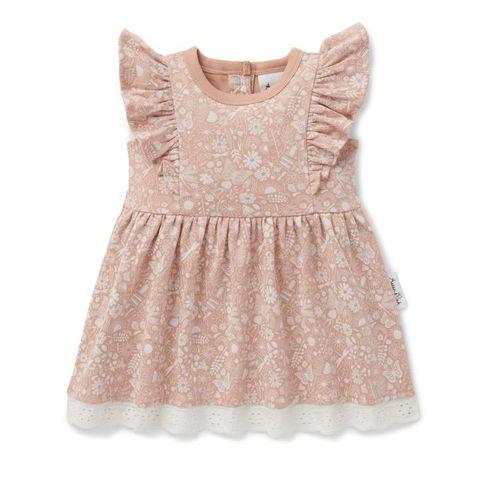Aster & Oak Ditzy Floral Ruffle Dress