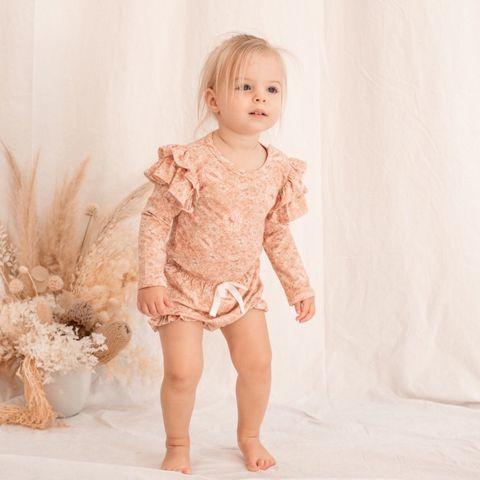 India & Grace Ruffle LS Suit Fleur