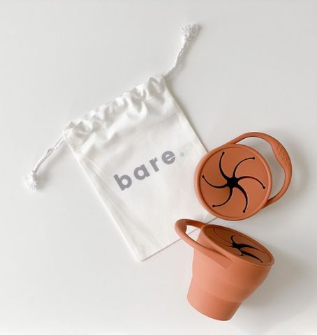 bare Silicone Snackie Cup Dusty Clay