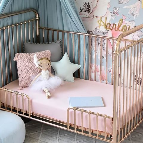 Snuggle Hunny Kids Lullaby Pink Fitted Cot Sheet