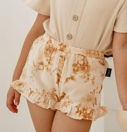 Kapow Kids Gardenia Frill Shorts