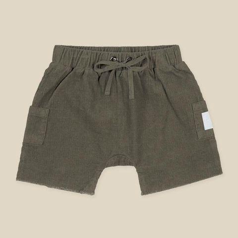 Kapow Kids Sage Corduroy Baby Pocket Shorts