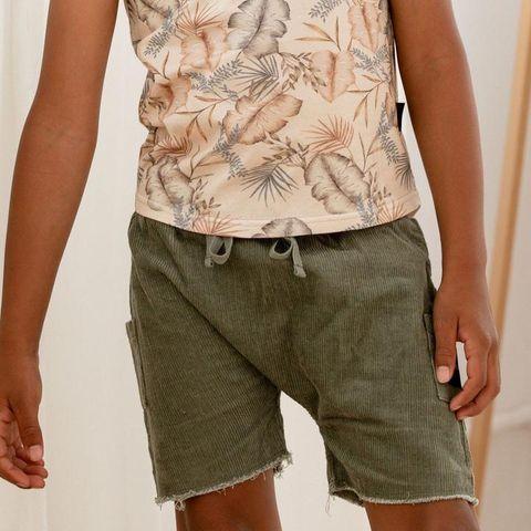 Kapow Kids Sage Corduroy Pocket Shorts