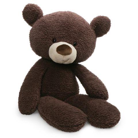 Baby Gund Fuzzy Bear Chocolate