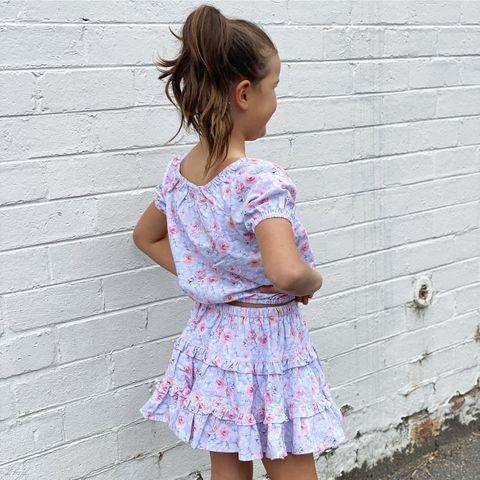 Little Hearts Rosy Posy Swing Skirt