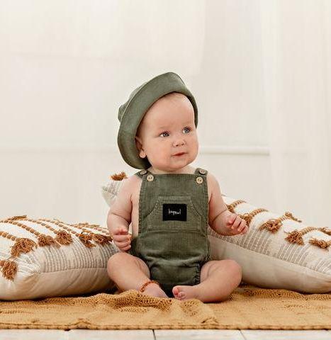 Kapow Kids Sage Corduroy Baby Playsuit