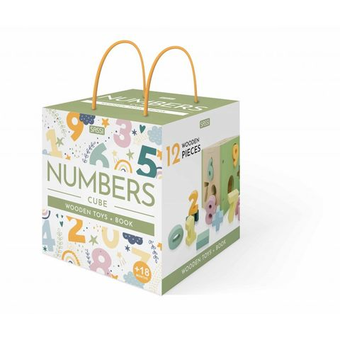 Numbers Cube Wooden Toys & Book