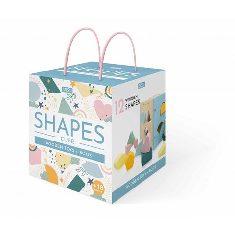 Shapes Cube Wooden Toys & Book