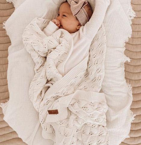 Little Bs Woodlands Heirloom Blanket Milk