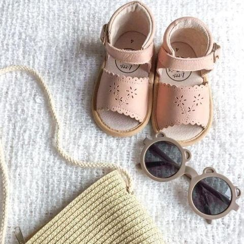 Little Mazoes Willow Sandal Pink Wax Leather