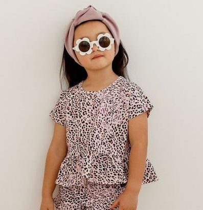 Kapow Kids Leopardess Peplum T Shirt