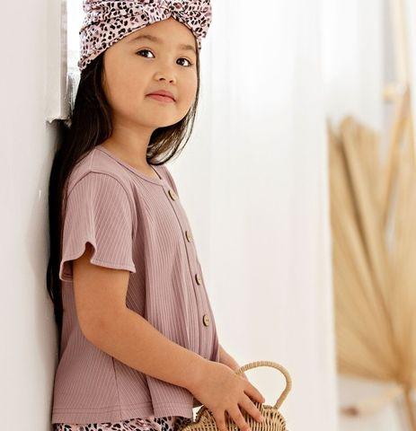 Kapow Kids Lilac Rib Swing T Shirt