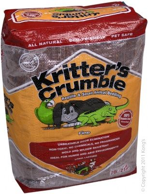 Kritter's Crumble - 20L Organic Bedding Subsrate (fine)