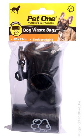 Pet One Waste Bags - Dispenser & 20pk Refill
