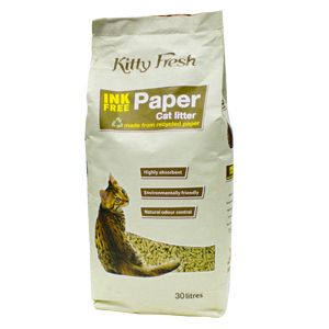 Kitty Fresh Ink Free Paper Litter 30L