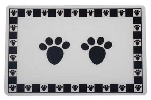 Pet Paws Black Placemat