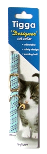 Tigga MIx Reflect Cat Collar Light Blue