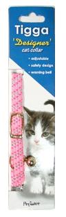 Tigga Mix Reflect Cat Collar Pink